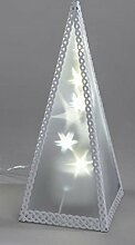 Formano LED Deko Lampe Pyramide aus Metall mit