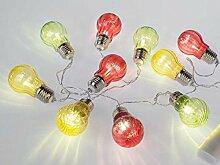 Formano LED-Lichterkette Deko-Glühbirne Batteriebox warm weiß 632364 Deko-Lichtergirlande mit Timer Porpsekt 2017