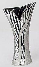 Formano Moderne Design Keramik-Vase Wave Silber