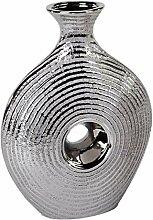 Formano- Moderne Design Keramik-Vase Wave Silber