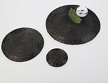 Formano Platzset rd.30 Perlen schwarz