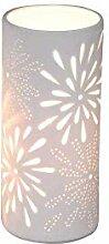 Formano Porzellan-Lampe Rund Blume Zylinder