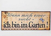 Formano Schild Garten Wanddeko Wandbild Bild Wenn