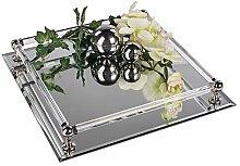 Formano Spiegeltablett, 30x30 cm, Silber