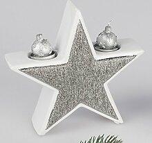 Formano Stern mit Teelichthalter, 22 cm,