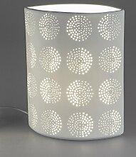 Formano Tischlampe Nachttischlampe Oval Kreise mit