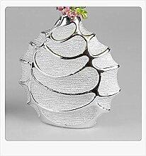 Formano Vase 22x23cm Serie Style - Silber Keramik