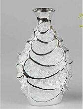 Formano Vase 33cm Serie Style - Silber Keramik mit