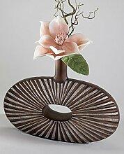 Formano Vase mit Loch braun silber Kunststein