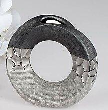 formano Vase Silber-grau 18 cm rund 739537 modern