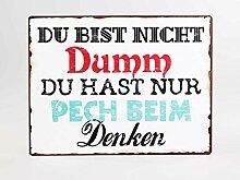 Formano Wandbild mit Spruch Dumm Schild Bild 604507