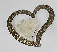 Formano Wanddeko 'Herz Muschel', 45 cm,