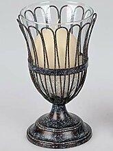 Formano Windlicht Windlichthalter Vase aus Metall