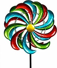 Formano Windrad Metall Gartendeko Garten Windspiel