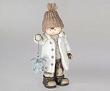 Formano Winterkind 'Jan' mit Laterne, 43 cm, creme-braun