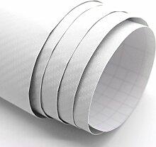 Format Aufkleber Carbon Optik mit relief, weiß,