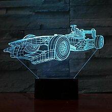 Formel 1 Auto 3D LED Licht Nachtlicht Optische