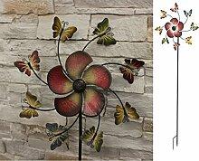 Formschönes Windrad Schmetterling Gartendeko