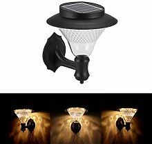 FORNORM Solar-Wandlaterne, 8 LEDs, Wandlampe,