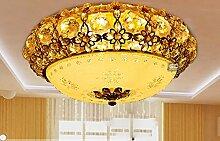 Fort Gitter Lampe europäischen Wohnzimmer Kristall Lampe Decke warme und romantische Beleuchtung Schlafzimmer den Raumlampe LED-Lampen ( größe : 40cm Upgrade )