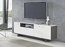 FORTE Möbel Lowboard MAKARIA 3-TRG. TV-Kommode in