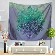 FORTR Home Tapisserie ethnische Wind Mandala Print