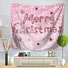 FORTR Home Tapisserie Santa Claus Elk Print Wand