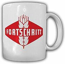 Fortschritt Landmaschinen Logo DDR deutsche demokratische Republik Ostdeutschland - Tasse Kaffee Becher #13137