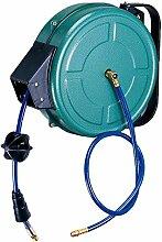 Forum Ausrüstung 640M005Automatische Kabelaufwicklung–15Meter–Druckluft–Schutzhülle PVC–Drehbarer Halterung, blau, 33x 16x 40cm