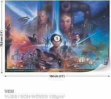 FORWALL Dekoshop Vlies Fototapete Tapete Vliestapete Star Wars Jungen (104cm x 70,5cm) AD1588VEM Photo Wallpaper Mural