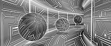 FORWALL Fototapete Poster Vlies Tapete 3D Grau