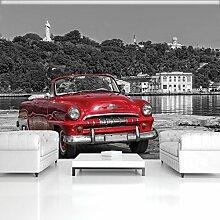 FORWALL Fototapete Tapete Altes Auto P8 (368cm. x