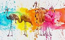 FORWALL Fototapete Tapete Flamingo P4 (254cm. x