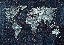 FORWALL Fototapete Tapete Moderne Weltkarte P4