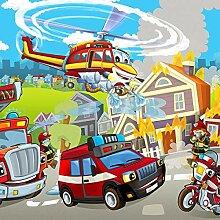 Forwall Fototapete Vlies Tapete Feuerwehr