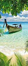 Forwall Fototapete Vlies Tapete Türtapete Strand