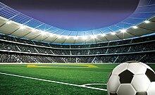 FORWALL Fototapete Vlies Wanddeko Fußball auf