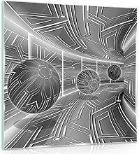 FORWALL Glasbild Glasfoto Echtglas Wandbild 3D