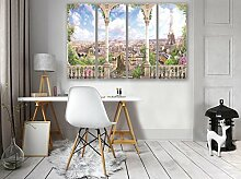 FORWALL Glasbild Glasfoto Echtglas Wandbild Blick