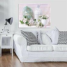 FORWALL Glasbild Glasfoto Echtglas Wandbild Blumen