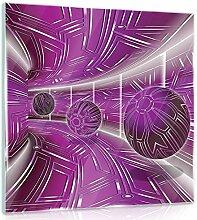 FORWALL Glasbild Glasfoto Echtglas Wandbild Rosa