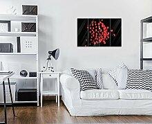 FORWALL Glasbild Glasfoto Echtglas Wandbild Rote