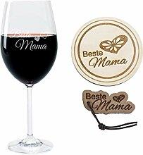 FORYOU24® Geschenk Set Weinglas mit Gravur Motiv