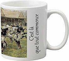 Foto-Becher des Rugby-dies ist, dass jedem Kadomania beginn