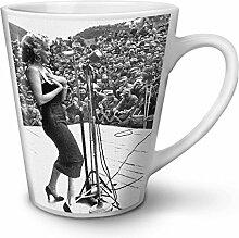 Foto Berühmtheit Marilyn Weiß Keramisch Latte Becher 12 oz | Wellcoda