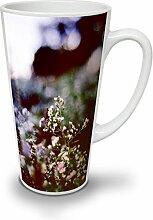 Foto Natur Weiß Blume Weiß Keramisch Latte Becher 17 oz | Wellcoda