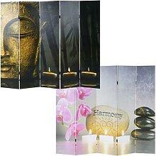 Foto-Paravent Buddha, Paravent Raumteiler