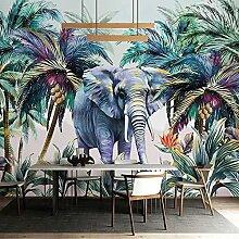 Foto Pflanze Kokospalme Elefant Aquarell