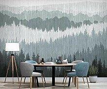 Foto Tapete 3D Modern Abstrakt Kiefernwald Berge