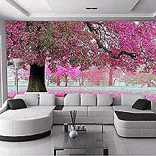 Foto Tapete 3D Romantische Kirschbaum TV